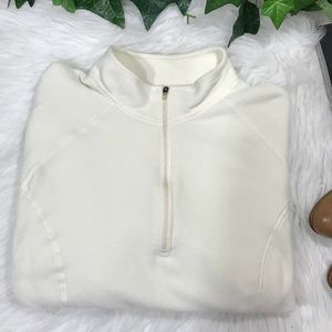 L.L. Bean Fleece Pullover  1/4 Zip in Cream
